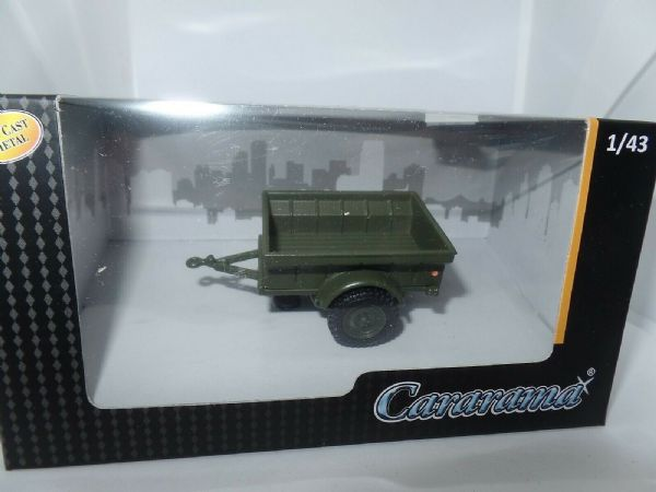 Cararama 251PND-MI-T 1/43 O Scale Div. 1/4 Ton USA US Army Military Trailer 1944